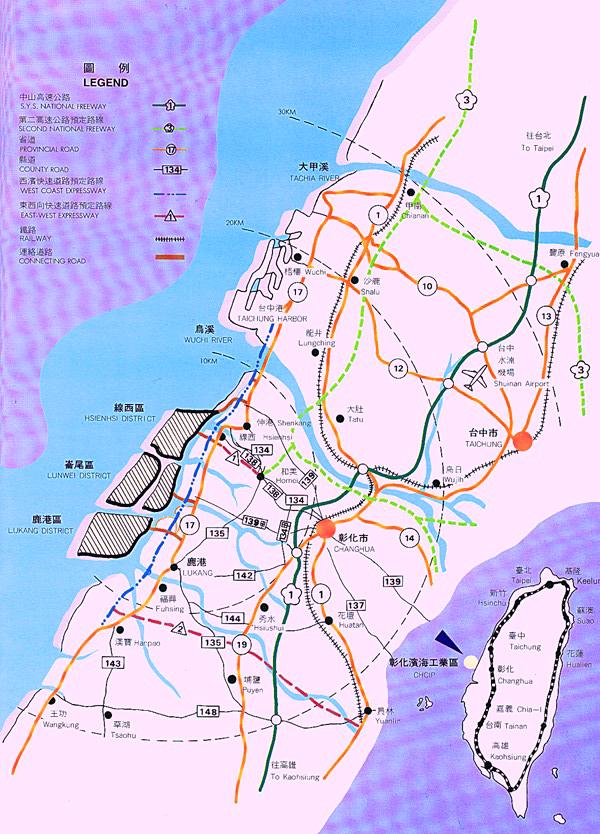 交通圖1,緊鄰61號西部濱海快速公路及台17號省道