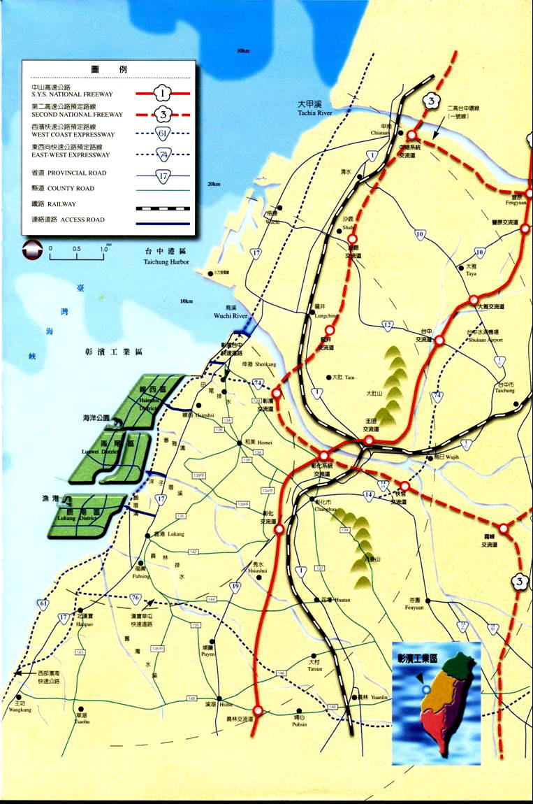 交通圖3,74號中彰快速公路32公里33分鐘